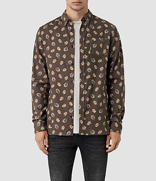 Hommes Wieppe Ls Shirt (Umber Brown)