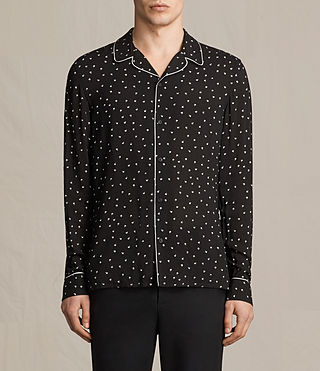 Mens Trefoil Pajama Shirt (Jet Black) - product_image_alt_text_1
