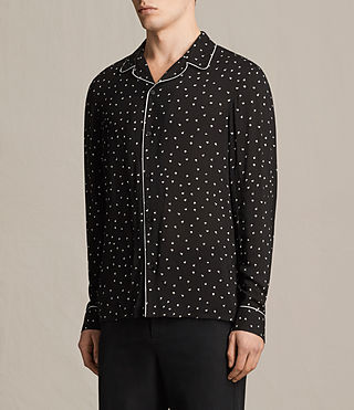 Men's Trefoil Pajama Shirt (Jet Black) - product_image_alt_text_3