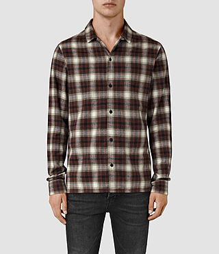 Mens Orofino Shirt (Red check)