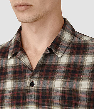 Mens Orofino Shirt (Red check) - product_image_alt_text_2