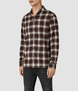 Mens Orofino Shirt (Red check) - product_image_alt_text_3