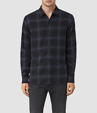 Hombres Volborg Check Shirt (Dark Ink)