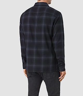 Mens Volborg Check Shirt (Dark Ink) - product_image_alt_text_3