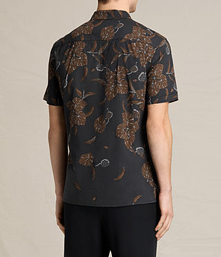 Mens Kauai Short Sleeve Shirt (Jet Black) - product_image_alt_text_3