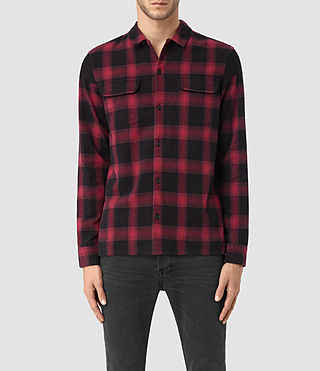 Mens Nanaimo Ls Shirt (Red check)