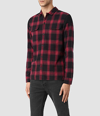 Uomo Nanaimo Ls Shirt (Red check) - product_image_alt_text_2