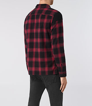 Hombre Nanaimo Ls Shirt (Red check) - product_image_alt_text_3