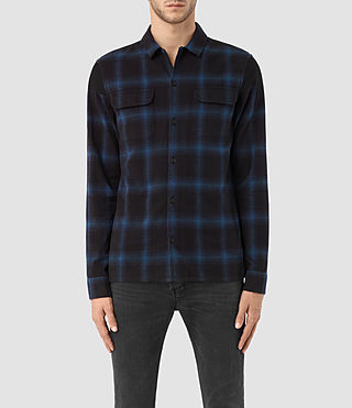 Hommes Nanaimo Ls Shirt (Blue Check)