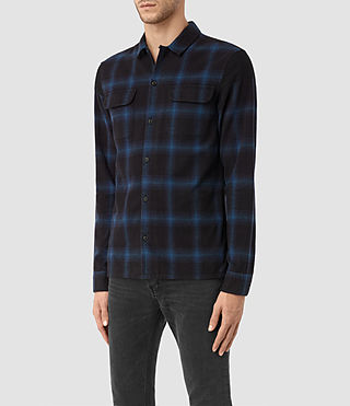 Men's Nanaimo Shirt (Blue Check) - product_image_alt_text_2