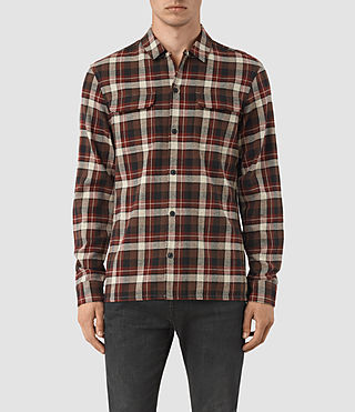 Hommes Dayton Ls Shirt (Red check)