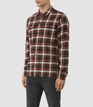 Hombre Dayton Shirt (Red check) - product_image_alt_text_2