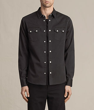 Herren Stovepipe Shirt (Washed Black)