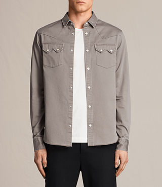 Men's Stovepipe Shirt (Cement) -