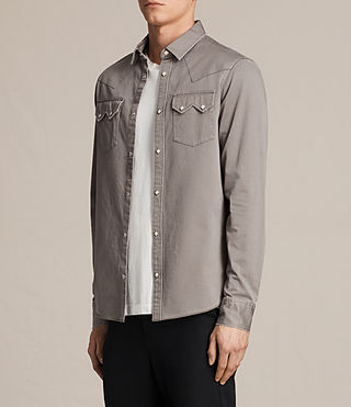 Uomo Stovepipe Shirt (Cement) - product_image_alt_text_3