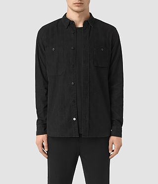 Hombre Menard Ls Shirt (Washed Black)