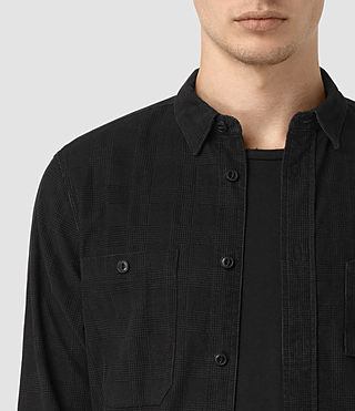Hombres Camisa Menard (Washed Black) - product_image_alt_text_2