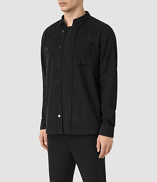 Hombre Menard Ls Shirt (Washed Black) - product_image_alt_text_3