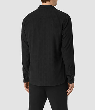 Men's Menard Shirt (Washed Black) - product_image_alt_text_4