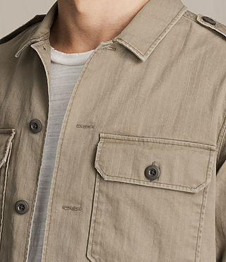 Men's Dieppe Shirt (Olive Green) - product_image_alt_text_2