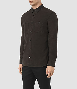 Mens Laredo Shirt (Chocolate) - product_image_alt_text_1