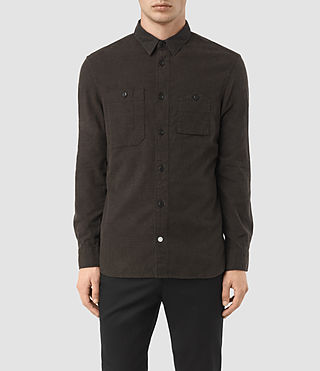 Mens Laredo Shirt (Chocolate) - product_image_alt_text_2