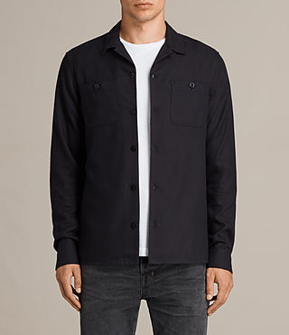 Uomo Camicia Wheeler (Dark Ink) - Image 1