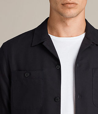 Men's Wheeler Shirt (Dark Ink) - product_image_alt_text_2