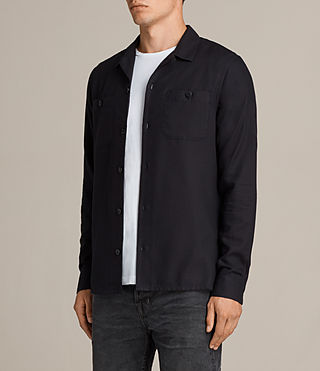 Men's Wheeler Shirt (Dark Ink) - product_image_alt_text_3
