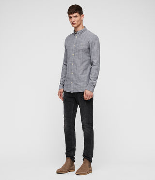Hombre Camisa Dulwich (Light Grey) - Image 3
