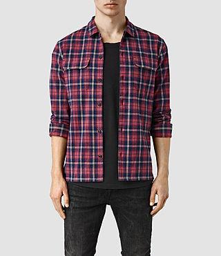 Mens Aanenson Shirt (INK NAVY/PAPRI RED)