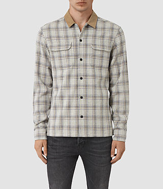 Hommes Hemet Shirt (Grey Check)