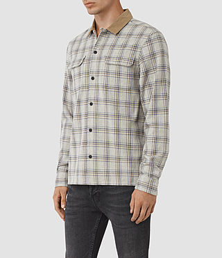 Men's Hemet Shirt (Grey Check) - product_image_alt_text_2