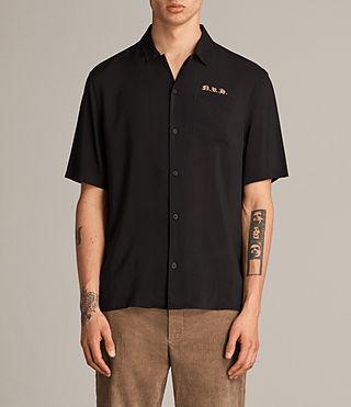 Mens Altadena Short Sleeve Shirt (Black) - product_image_alt_text_1