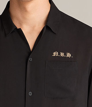 Mens Altadena Short Sleeve Shirt (Black) - product_image_alt_text_3