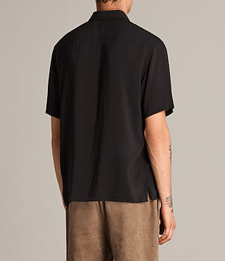 Mens Altadena Short Sleeve Shirt (Black) - product_image_alt_text_5