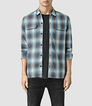 Mens Leinkauf Shirt (MIRAGE BLUE)