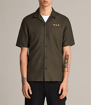 Mens Burbank Short Sleeve Shirt (Khaki) - Image 1