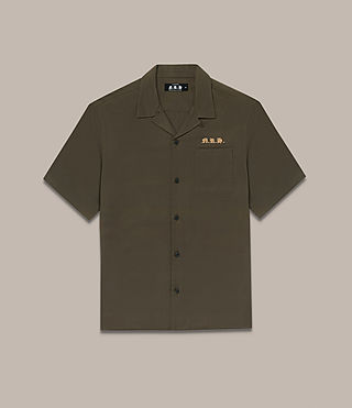 Mens Burbank Short Sleeve Shirt (Khaki) - Image 2