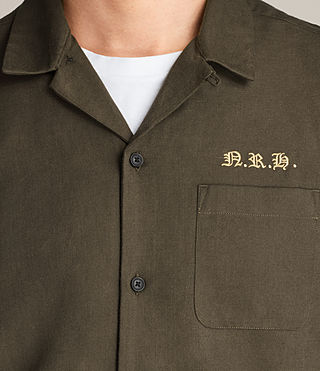 Mens Burbank Short Sleeve Shirt (Khaki) - Image 3