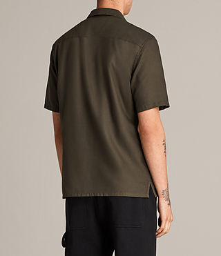 Mens Burbank Short Sleeve Shirt (Khaki) - Image 5