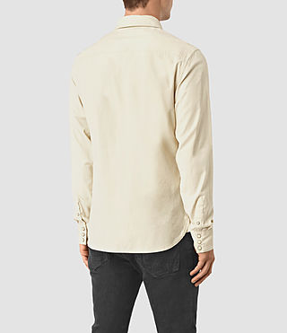 Mens Trappe Denim Shirt (Off White) - product_image_alt_text_3