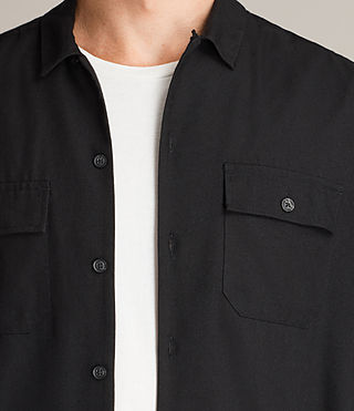 Mens Greer Shirt (Black) - product_image_alt_text_2
