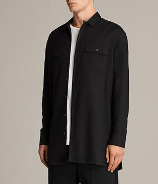 Mens Greer Shirt (Black) - product_image_alt_text_3