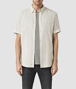 Mens Nissen Short Sleeve Shirt (ECRU WHITE)