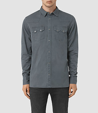 Hommes Frackville Ls Shirt (Workers Blue)