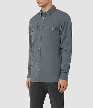 Herren Frackville Ls Shirt (Workers Blue) - product_image_alt_text_2
