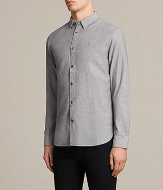 Hombres Camisa Tulare (Grey) - product_image_alt_text_3