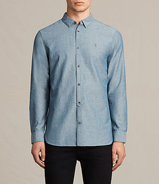 Mens Tulare Shirt (Blue) - product_image_alt_text_1