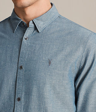 Men's Tulare Shirt (Blue) - product_image_alt_text_2